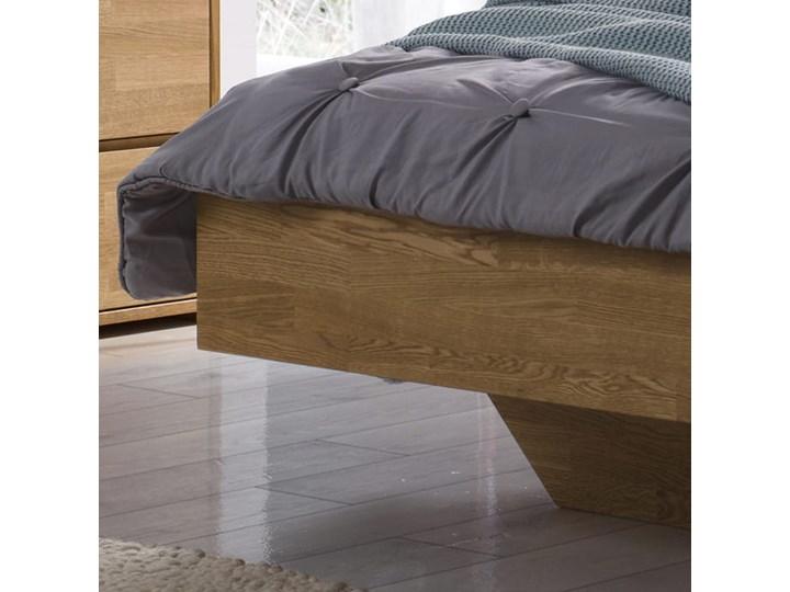 Łóżko dębowe FLOW  (180x200) Soolido Meble Łóżko drewniane Kolor Brązowy