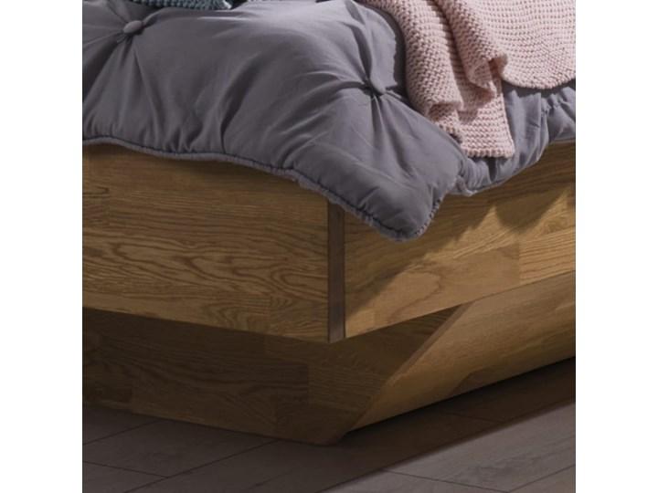 Łóżko dębowe FLOW Style (180x200) Soolido Meble Łóżko drewniane Kolor Szary Rozmiar materaca 140x200 cm