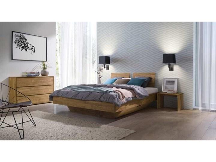 Łóżko dębowe FLOW Style (180x200) Soolido Meble Łóżko drewniane Kolor Szary