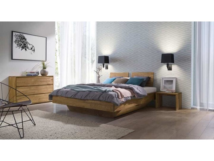 Łóżko dębowe FLOW Classic (160x200) Soolido Meble Łóżko drewniane Kategoria Łóżka do sypialni Kolor Brązowy