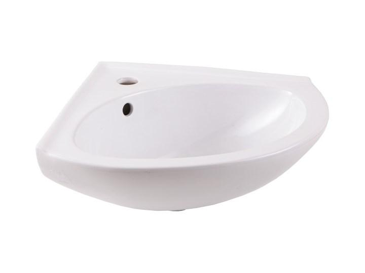 Umywalka ścienna ceramiczna GoodHome Vedi 38,5 x 38,5 cm z otworem na armaturę biała