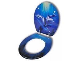 VidaXL Deska klozetowa, MDF, wzór w delfiny
