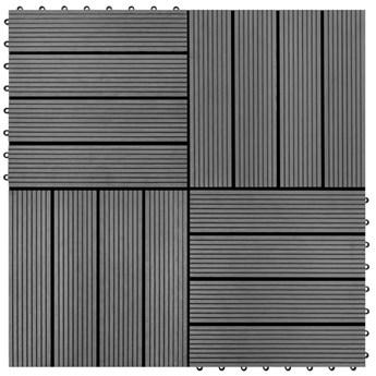 Płytki WPC (30x30cm), szare 1m².