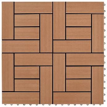 Płytki tarasowe WPC (30 x 30 cm) kolor brązowy