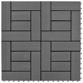 VidaXL Płytki tarasowe, 30x30 cm, WPC, 1 m², szare