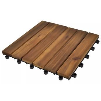 VidaXL Płytki tarasowe, 30 x 30 cm, drewno akacjowe, pionowy wzór