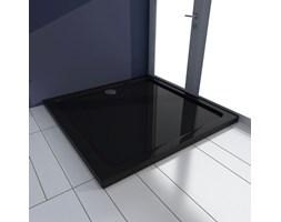 VidaXL Brodzik kwadratowy, ABS, czarny, 90 x 90 cm