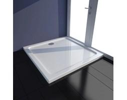 VidaXL Brodzik prysznicowy kwadratowy, ABS, biały, 80 x 80 cm