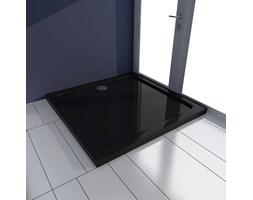 VidaXL Brodzik prysznicowy kwadratowy, ABS, czarny, 80 x 80 cm