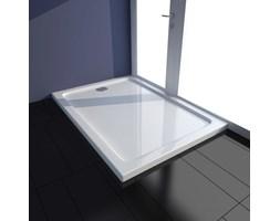 VidaXL Brodzik prysznicowy prostokątny, ABS, biały, 70 x 100 cm