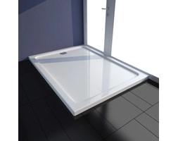 VidaXL Brodzik prysznicowy prostokątny, ABS, biały, 80 x 110 cm