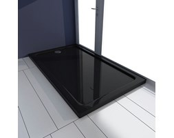 VidaXL Brodzik prysznicowy prostokątny, ABS, czarny, 70 x 120 cm