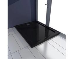 VidaXL Brodzik prysznicowy prostokątny, ABS, czarny, 70 x 90 cm