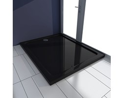 VidaXL Brodzik prysznicowy prostokątny, ABS, czarny, 80 x 100 cm