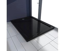 VidaXL Brodzik prysznicowy prostokątny, ABS, czarny, 80 x 110 cm