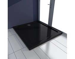 VidaXL Brodzik prysznicowy prostokątny, ABS, czarny, 80 x 90 cm