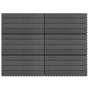 VidaXL Płytki tarasowe z WPC, 60x30 cm, 6 szt., 1 m², szare