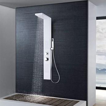 VidaXL Panel prysznicowy, aluminiowy, matowy, biały