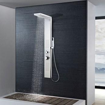 VidaXL Panel prysznicowy ze stali nierdzewnej, kwadratowy