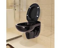 VidaXL Toaleta podwieszana, ciche zamykanie, ceramiczna, ciemnobrązowa