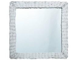 VidaXL Lustro, białe, 60x60 cm, wiklina