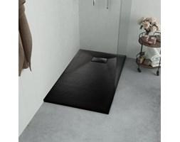 VidaXL Brodzik prysznicowy, SMC, czarny, 90 x 80 cm