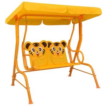 VidaXL Huśtawka dla dzieci, żółta, 115x75x110 cm, tkanina