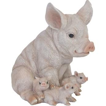 Esschert Design Figurka świnki z prosiętami, 19,4 x 22,3 x 24,3 cm