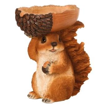 Esschert Design Karmnik, wiewiórka trzymająca żołądź, 18,5x10x20,5 cm