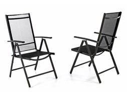 Krzesło ogorodowe regulowane 2szt., leżak na taras składany