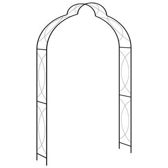 VidaXL Pergola ogrodowa, czarna, 150x34x240 cm, żelazna