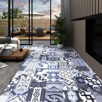 VidaXL Panel podłogowy PVC samoprzylepny, 5,11 m², kolorowy