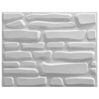 VidaXL Panele ścienne 3D, 12 szt., 0,8 x 0,625 m, 6 m²