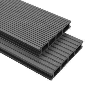 VidaXL Deski tarasowe WPC z akcesoriami 16 m², 2.2 m, szare