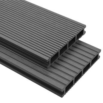 VidaXL Deski tarasowe WPC z akcesoriami, 40 m², 2.2 m, szare
