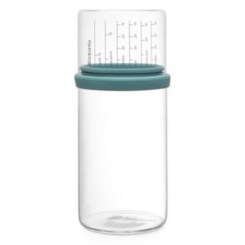 Szklany pojemnik z miarką 1l miętowy BRABANTIA