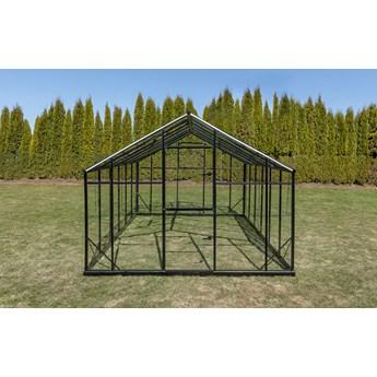 Szklarnia Sanus XL-18 wymiar 2,9x6,4m H=2,25m 18,6m2 szkło hartowane 4mm