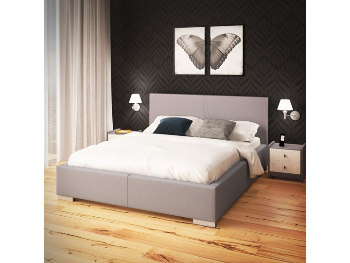 Łóżko London Grupa 1 120x200 cm Nie Łóżko tapicerowane Kolor Szary Kategoria Łóżka do sypialni