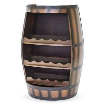BECZKA stojak na wino brązowy, wys. 83 cm