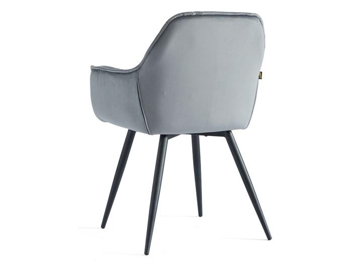 KRZESŁO TAPICEROWANE DC-9220 JASNY SZARY WELUR #10 Metal Tkanina Kategoria Krzesła kuchenne