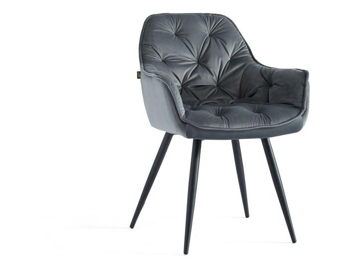 KRZESŁO TAPICEROWANE DC-9220 JASNY SZARY WELUR #10 Tkanina Kategoria Krzesła kuchenne Metal Styl Nowoczesny