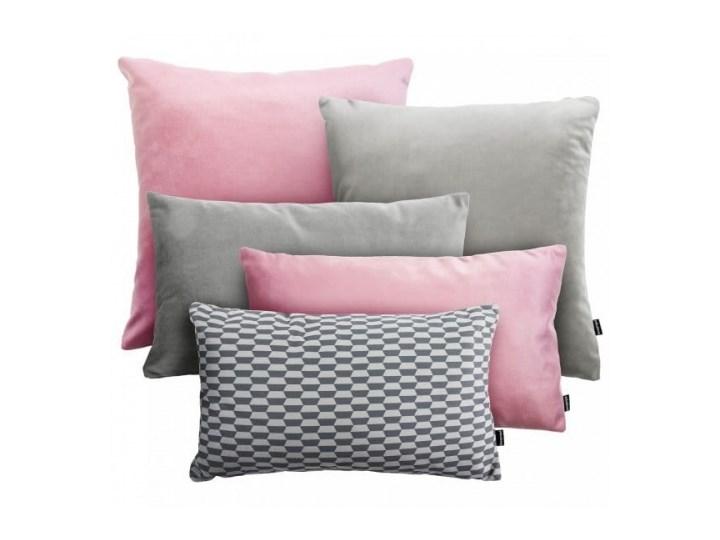 VELVET+BREAK różowy-szary zestaw poduszek dekoracyjnych