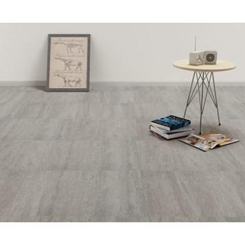 VidaXL Samoprzylepne panele podłogowe, PVC, 5,11 m², szare, punktowane