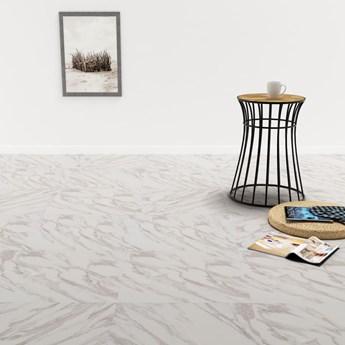 VidaXL Samoprzylepne panele podłogowe z PVC, 5,11 m², biały marmur