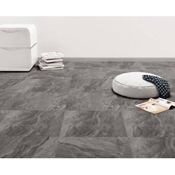 VidaXL Samoprzylepne panele podłogowe z PVC, 5,11 m², czarne ze wzorem