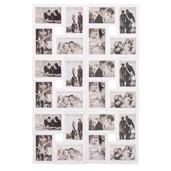 Ramka na zdjęcia 24 zdjęcia multiramka 10x15 biała