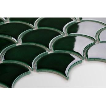 Płytka Flabellum Duże Emerald Szkliwione