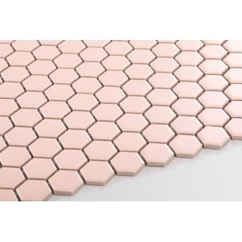 Płytka Heksagon Mały Pink Matowy