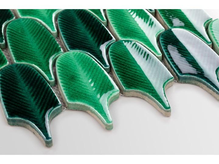 Płytka Aurora Green Połysk Powierzchnia Polerowana Płytki ścienne Mozaika Nieregularny Wzór Geometryczny