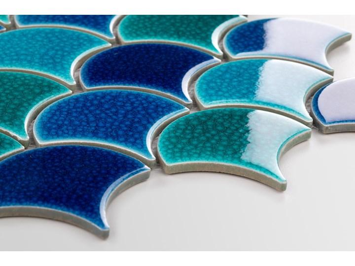 Płytka Flabellum Sea Mix Połysk Mozaika Nieregularny Kolor Płytki ścienne Gres Płytki podłogowe Wzór Geometryczny